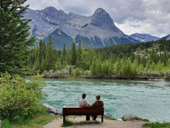A gorgeous lookout spot on the Bow River; Canmore