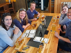 Spending a few hours at the Grizzly Paw brewery; Canmore