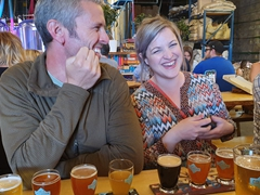 Laughing it up at Cold Garden brewery