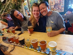 Lots of beer to sample at Cold Garden Brewery