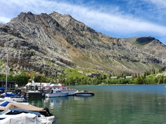 Waterton's tiny harbor