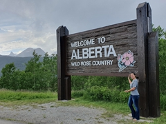 "Crossing into Alberta, ""Wild Rose Country"""
