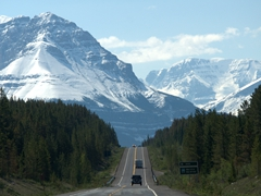 A picturesque drive from Jasper to Lake Louise
