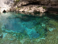 Natural thermal mineral spring; Cave and Basin historic site
