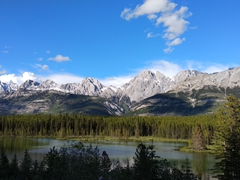 Beautiful scenery on our drive along Spray Lakes Trail