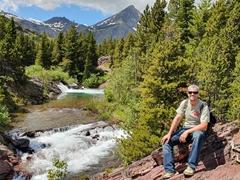 Robby at the top of Redrock Falls