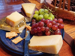 Cheese and grape platter - Barb is an awesome host!
