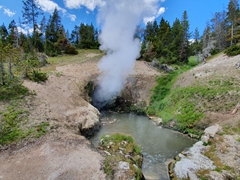 Dragon's Mouth Spring; Yellowstone