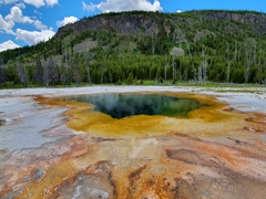Emerald pool; Black Sand Basin