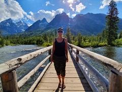 Becky at String Lake; Grand Teton NP