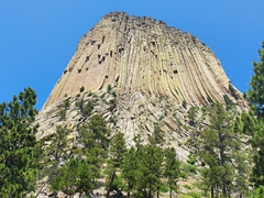Devils Tower, designated a national monument in 1906; Crook County