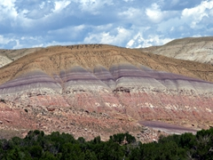 Colorful hills near the Wind River
