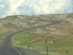 Scenery as we drive east in Wyoming