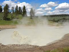 Mud Geyser at Mud Volcano