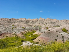 Badlands National Park contains fossil riddled geologic deposits
