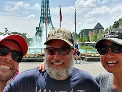 Visiting Kings Island amusement park with Larry