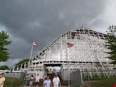 The Racer - a wooden roller coaster that made its debut in 1972; Kings Island