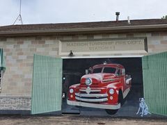 Mural painted on the side of the Madison Twp. Fire Department