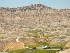 Conata Basin Overlook; Badlands