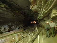 Park rangers leading us on a historic tour of the Mammoth Cave