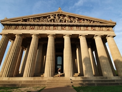 Becky at the Parthenon; Nashville