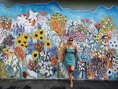 Flower mural; Nashville
