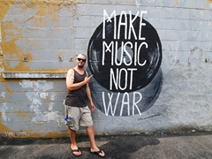 """Make Music, Not War""; Nashville"