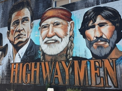 Highwaymen mural - Waylon Jennings, Johnny Cash, Willie Nelson and Kris Kristofferson; Nashville