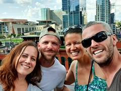 Reunion with Jessica and her boyfriend Joel at the Lookout Sky Bar at Old Red; Nashville