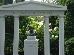 Burial site of Colonel Harland Sanders, the founder of Kentucky Fried Chicken
