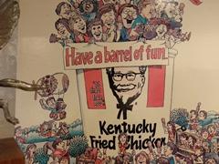 KFC poster; Colonel Sanders Museum
