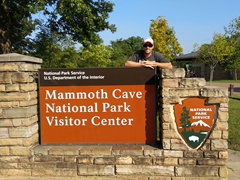 At the Mammoth Cave NP visitor center