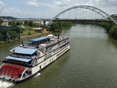 General Jackson showboat on the Cumberland River; Nashville