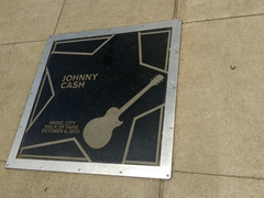 Johnny Cash star at the Music City Walk of Fame park; Nashville