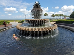Pineapple fountain; Charleston