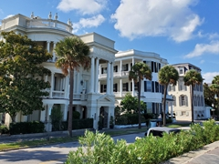 Historic waterfront mansions on East Battery; Charleston