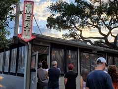 Locals in the know wait for over an hour for their meat fix; Lewis Barbeque