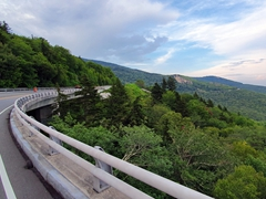 Linn Cove Viaduct, the most photographed section of the Blue Ridge Parkway