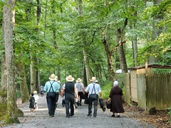 Mennonites visiting the Natural Bridge