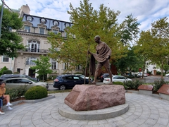Mahatma Gandhi Memorial outside of the Embassy of India; Washington, D.C.