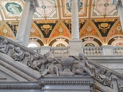 Exquisite marble staircase; Library of Congress