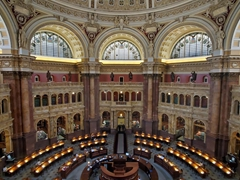 Main reading room; Library of Congress