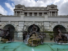 Neptune Fountain; Library of Congress
