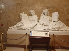 Justice and History sculpture; Senate wing of the US Capitol