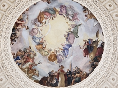 The Apotheosis of Washington, a fresco painted in the capitol rotunda