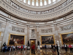 Interior view of the amazing capitol rotunda