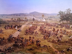 Gettysburg cyclorama depicting Pickett's Charge - this amazing painting is longer than a football field and taller than a 4 story building!