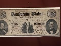 10 Confederate dollars; Gettysburg Museum
