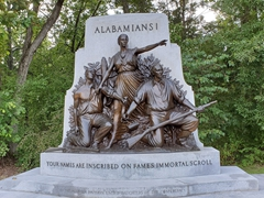 Alabama State monument commemorating the state's Confederate units that fought in the Battle of Gettysburg