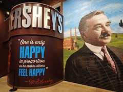 Milton S. Hershey wanted to make people happy with his famous chocolate